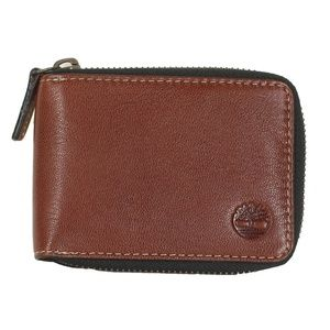 Timberland Men's Genuine Leather Zip Wallet